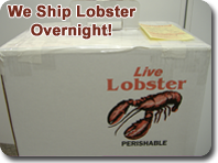 We ship lobster overnight!